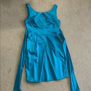 Baby blue mid length dress